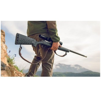 "CHRISTENSEN ARMS RIDGELINE 28 NOSLER 26"" Black with Gray Webbing Left hand"