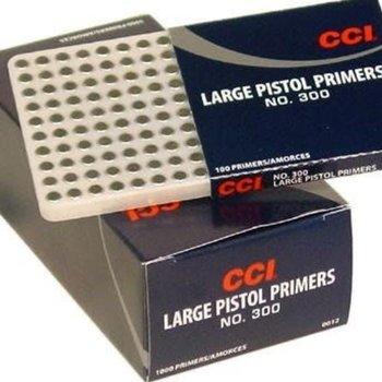 CCI LARGE PISTOL PRIMERS 300 100CT