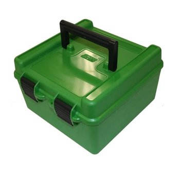MTM 100RD DELUXE AMMO CASE LARGE RIFLE GREEN