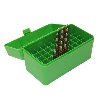 MTM 50RD AMMO CASE SMALL RIFLE GREEN