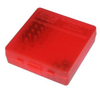 MTM 100RD AMMO CASE PISTOL 9MM RED
