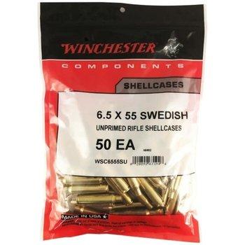WINCHESTER 6.5X55 SWEDISH UNPRIMED 50CT