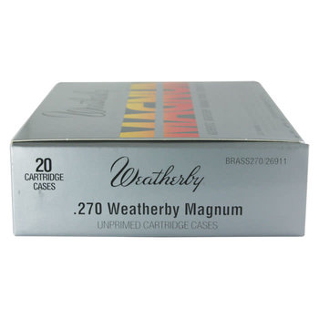 WEATHERBY 270 WBY MAGNUM UNPRIMED BRASS 20CT