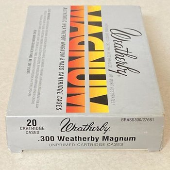 WEATHERBY 300 WBY MAG BRASS 20CT