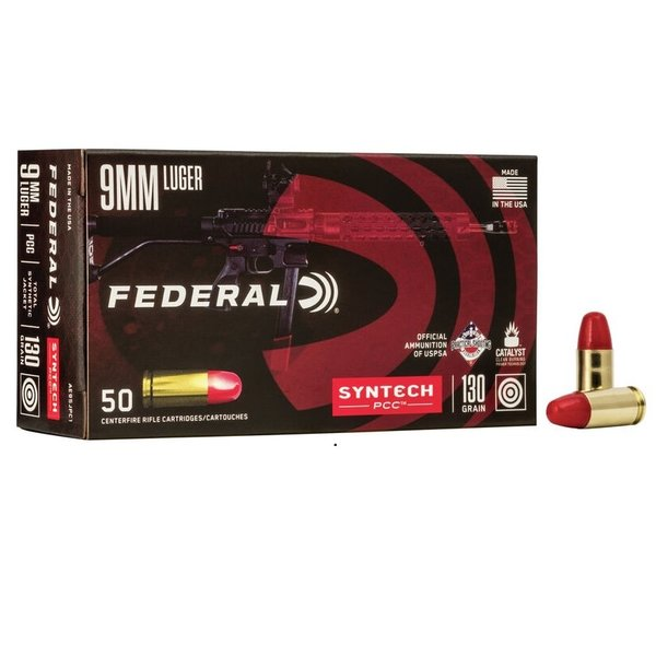 FEDERAL AMERICAN EAGLE 9MM LUGER 130GR SYNTECH TSJ