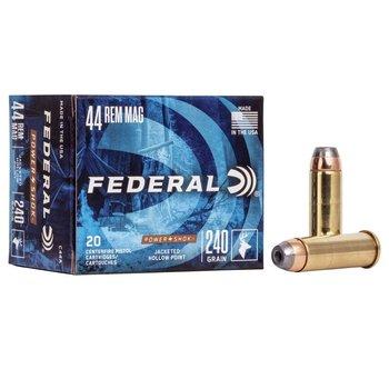 FEDERAL 44 REM MAG 240GR POWER SHOK 20CT