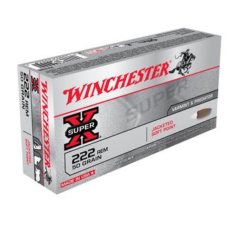 WINCHESTER 222 REM 50GR JSP SUPER-X 20CT