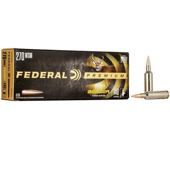 FEDERAL 270 WSM 140GR BERGER HYBRID HUNTER 20CT