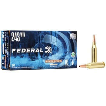 FEDERAL 243 WIN 85GR COPPER BULLET 20CT