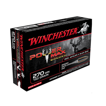 WINCHESTER 270 WIN 150GR POWER MAX BONDED 20CT