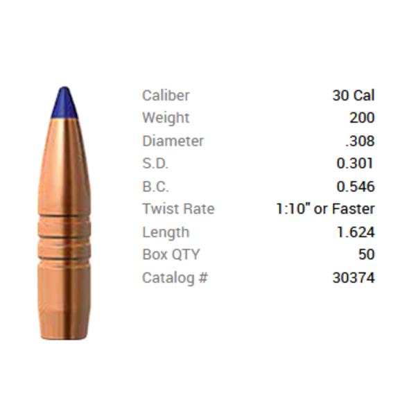 BARNES 308 CAL 200GR LRX BT