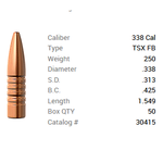 BARNES 338 CAL 250GR TSX FB
