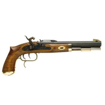 """TRADITIONS TRAPPER PISTOL 50CAL PERC. 1/20"""" 9-3/4"""" BLUED/HDWD"""