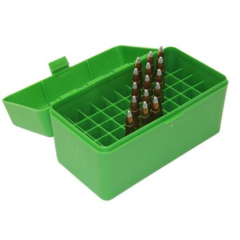 MTM 50RD CASE-GARD LARGE RIFLE BOX GREEN