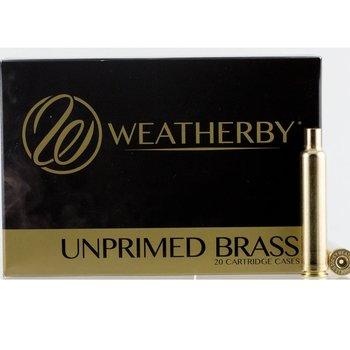 WEATHERBY UNPRIMED BRASS 20ct