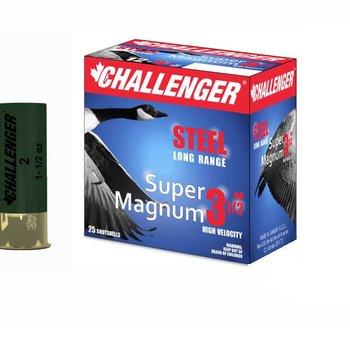 "CHALLENGER 12GA 3"" 1-1/4oz BBB SS LR SUPER MAG 25CT"