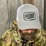 CATCHIN' DEERS VINTAGE PATCH HEATHER GREY