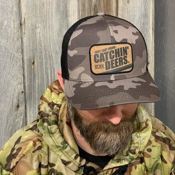 CATCHIN' DEERS CORK VINTAGE PATCH BROWN CAMO