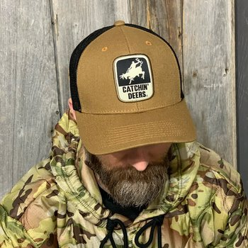 CATCHIN' DEERS GIDDY UP HAT TAN CANVAS