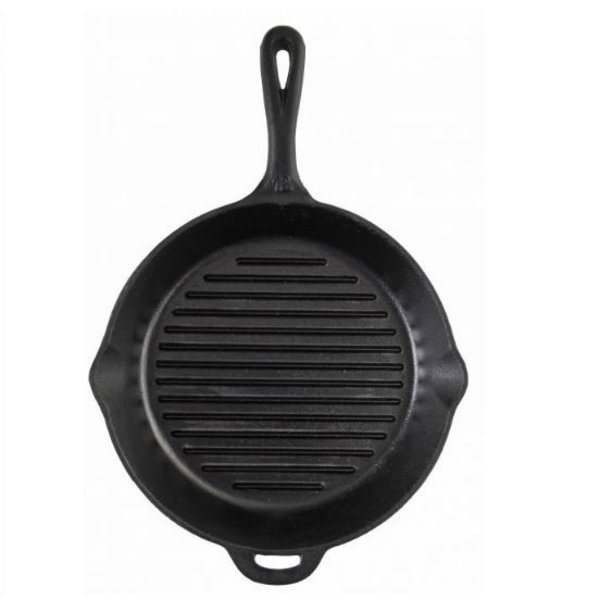 """CAMP CHEF 12"""" RIBBED CAST IRON SKILLET"""