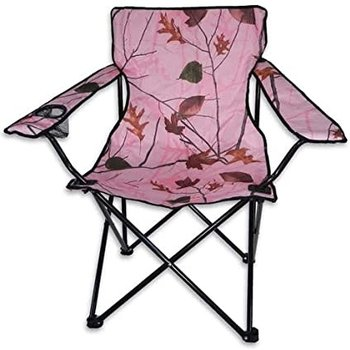 WORLD FAMOUS SPORTS CAMO FOLDING CHAIR PINK