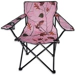 WORLD FAMOUS SPORTS BIG BOY CAMP CHAIR WITH ARMS PINK CAMO