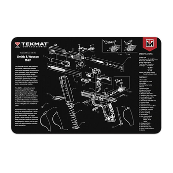 TEKMAT SMITH & WESSON M&P BENCH GUN CLEANING MAT