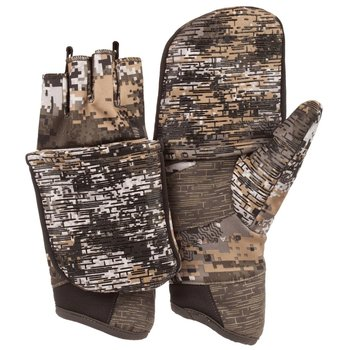 HUNTWORTH LINED STEALTH HUNTING POP TOP GLOVES Disruption Camo