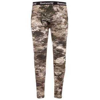 HUNTWORTH MID WEIGHT JERSEY BASE LAYER PANTS Tarnen Camo