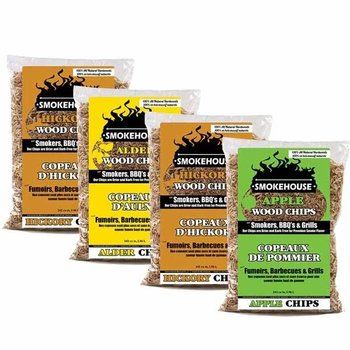 SMOKEHOUSE WOOD CHIPS ASSORTED 4 PACK