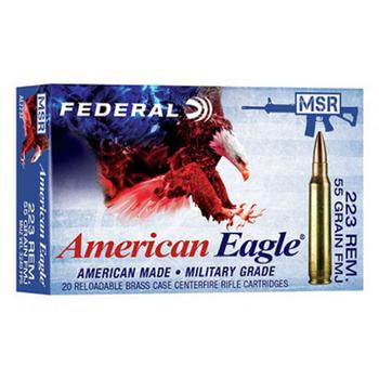 FEDERAL AMERICAN EAGLE 223 REM 55GR FMJ 20ct