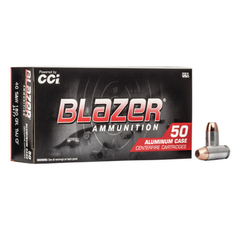 CCI BLAZER 40 S&W 180GR TMJ CF 50ct