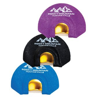 ROCKY MOUNTAIN HUNTING CALLS GOLDEN TONE PLATE 3 PACK ELK DIAPHRAGM