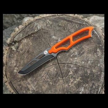 "8"" NECK KNIFE WITH WHISTLE AND SHEATH ORANGE"