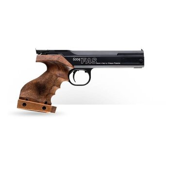 CHIAPPA FAS PNEUMATIC PISTOL 6004 MATCH 4.5MM/177 CAL - 400 FPS RIGHT HAND WOODEN GRIP