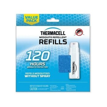 THERMACELL MOSQUITO AREA REPELLENT 120 HOUR REFILL 30 MATS/10 BUTANE CARTRIDGE