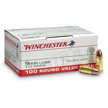 WINCHESTER 9mm 115gr FMJ 100ct
