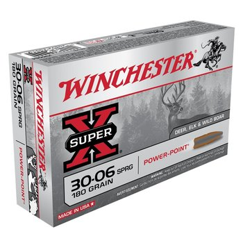 WINCHESTER WINCHESTER 30-06 SPRG 180GR POWER POINT 20ct