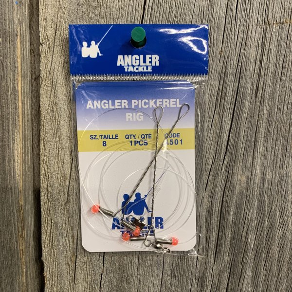 ANGLER TACKLE PICKEREL RIG #8 HOOK