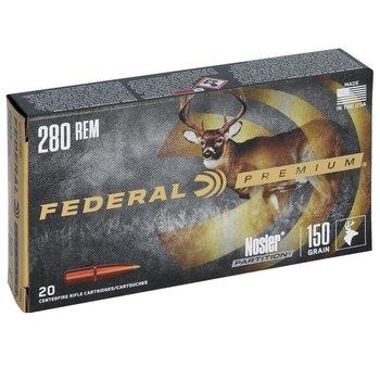 FEDERAL 280 REM 150gr NOSLER VITAL-SHOK 20ct