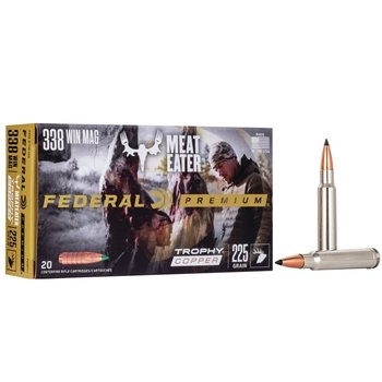 FEDERAL 338 WIN MAG 225gr MEATEATER 20ct
