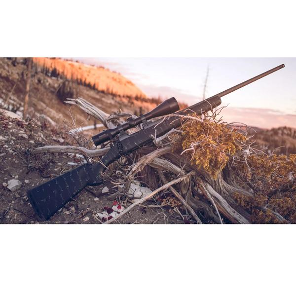 """CHRISTENSEN ARMS MESA 7mm-08 22"""" Black w/Gry Web"""