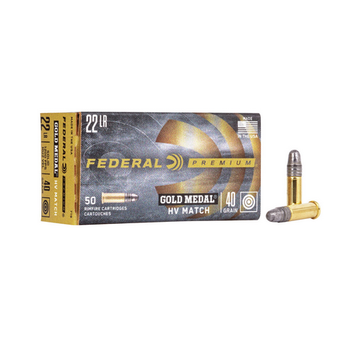 FEDERAL 22 LR 40gr PREMIUM HV MATCH 50ct