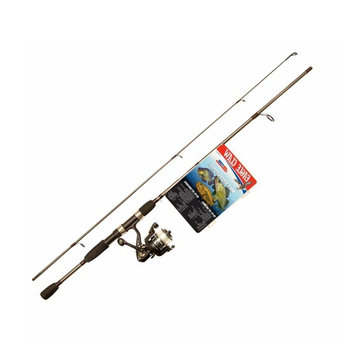 """EAGLE CLAW GO FISH ALL-SPECIES SPINNING ROD C 5""""6"""" 2pc MED-LT 48pc Kit"""