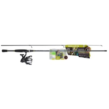 READY 2 FISH WALLEYE SPINNING COMBO w/23pc TACKLE KIT