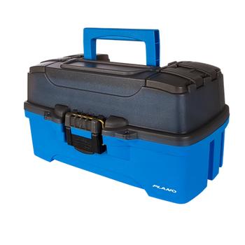 PLANO 3 TRAY TRANS SMOKE TACKLE BOX Blue