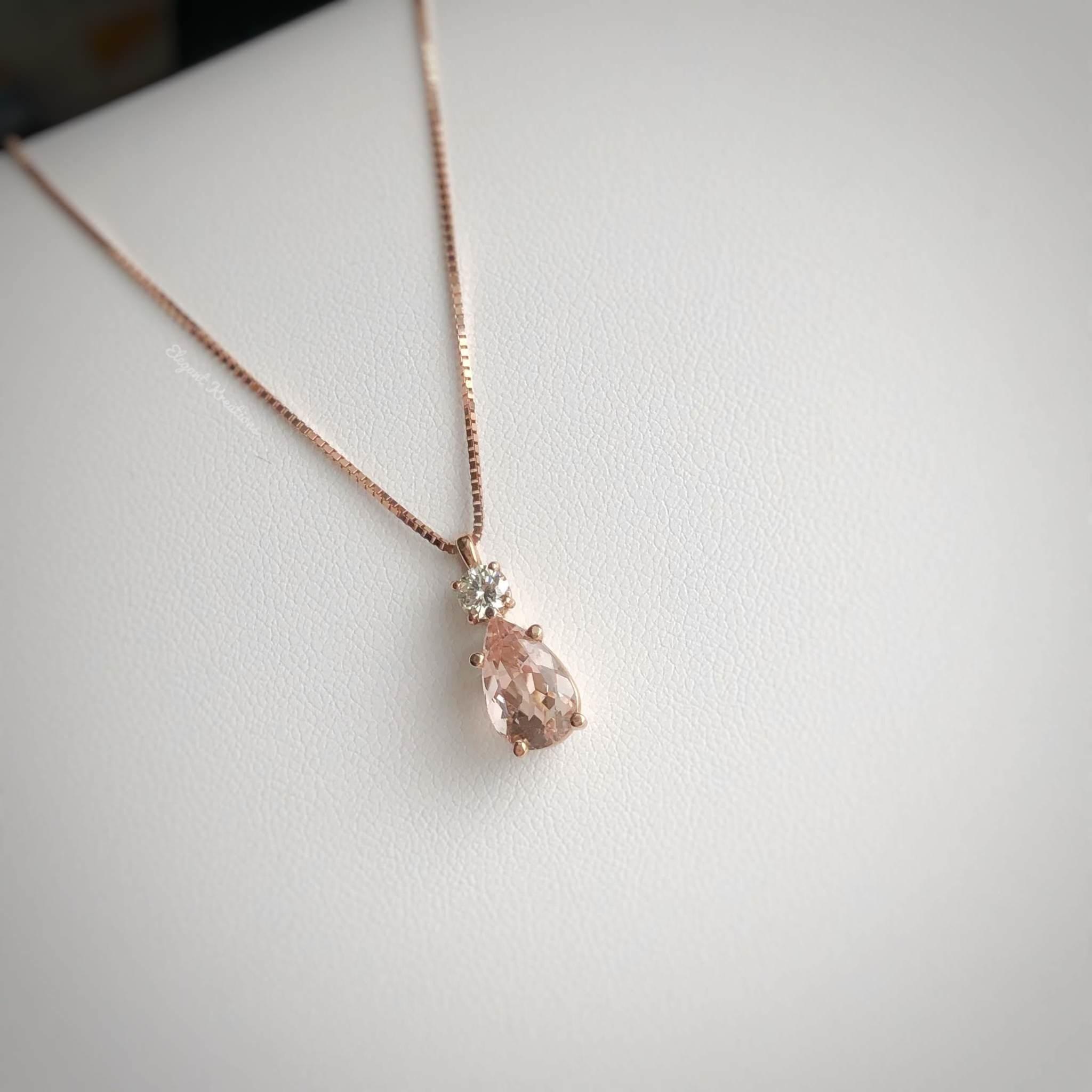 Fine Morganite and Diamond Necklace