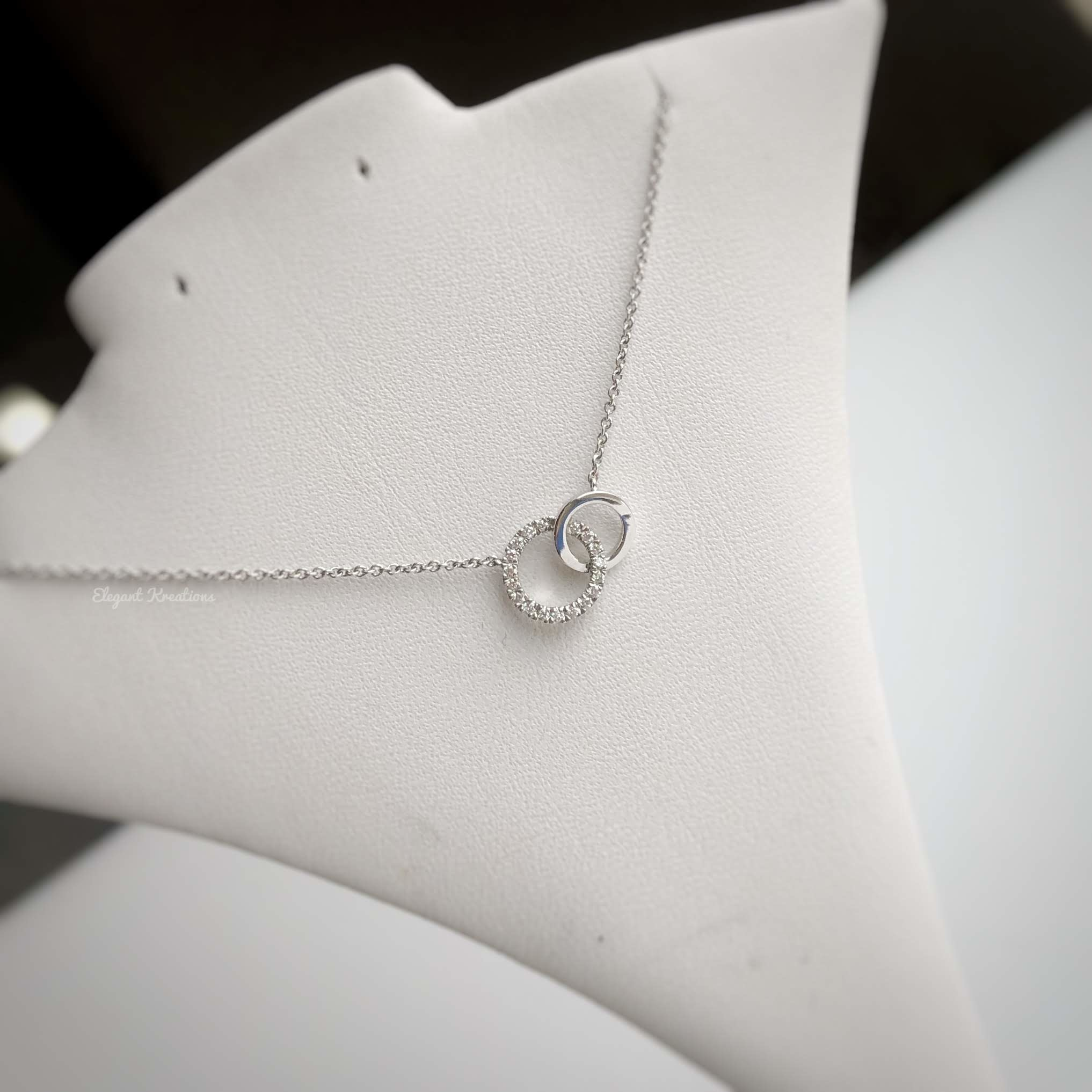 White Gold Double Diamond Necklace