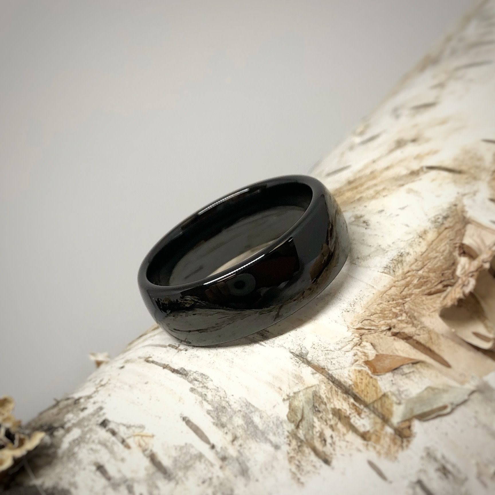 Black Ceramic Men's Wedding Ring