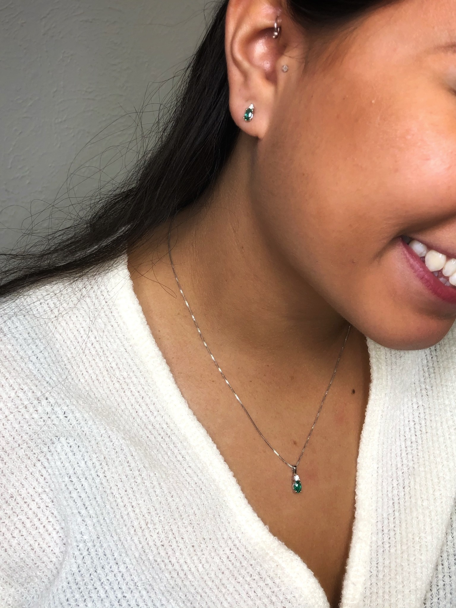14k cr Emerald Pendant